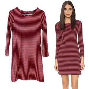 Madewell Sorbonne Sailor Striped Dress Small Red